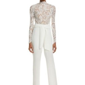 MISHA COLLECTION Allegra Lace Jumpsuit White